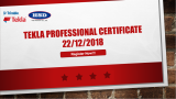 Tekla Professional Certificate 2018